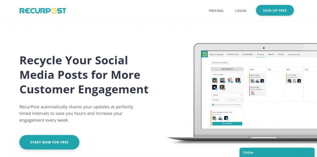 Recurpost instagram tool - recurpost - social media scheduler