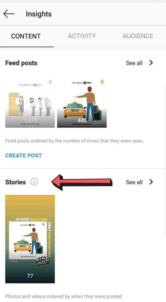 Instagram story analytics