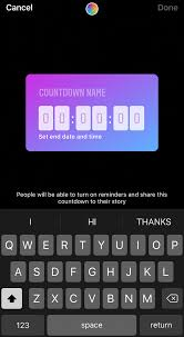 Instagram coutndown