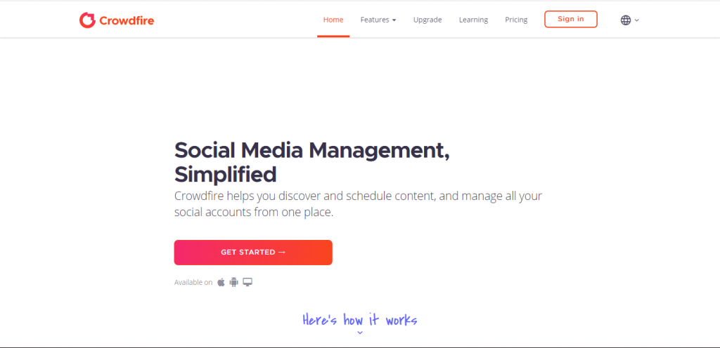 crowdfire - social media scheduler