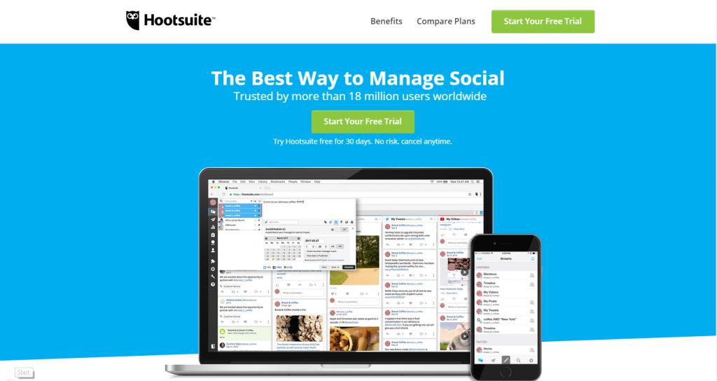 hootsuite - social media scheduler