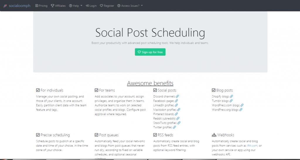 socialoomph -  social media scheduler