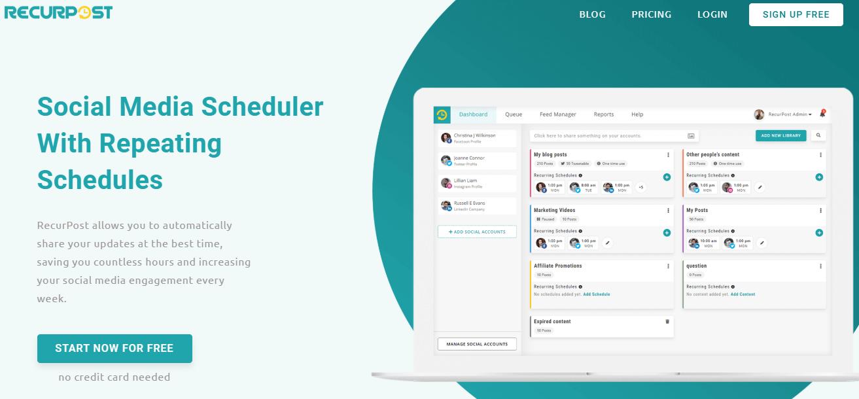 recurpost-social media scheduling tool